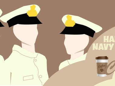 Created this for a cafe shop for navy day.