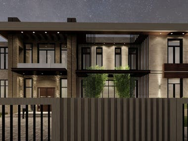 Location: Dhahran, Saudi Arabia Space Built: 1080 m2  Second proposed and executed model A classic and cosy aura