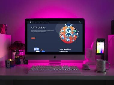 A company website with vue.js and Node.js