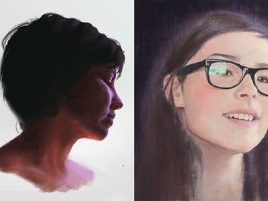 Some recent Portrait work