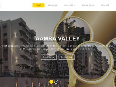 It's real -estate website  - It's has pre book function for customer - smart take a tour facilities  -Best UI/UX design http://ujjawalabuilder.com/