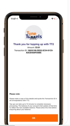 underground movement , the smart and easy way to pay the toll. With the Tyne Tunnels app it's easy for you to top up your account and go through the tunnels without the need for change or a permit. Use the app to log in to your account, or set one up and pre pay for your journeys. Pre-paid customers also save 10% on every journey!
