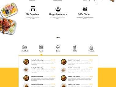 Food website designed in Figma