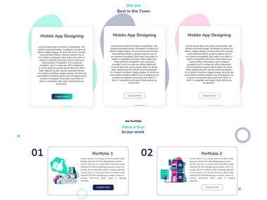 Website designed using Sketch (Lunacy)