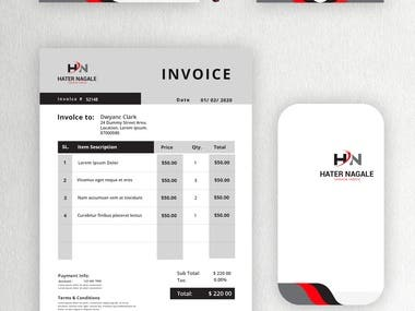 Modern corporate and clean Business card and Stationery design