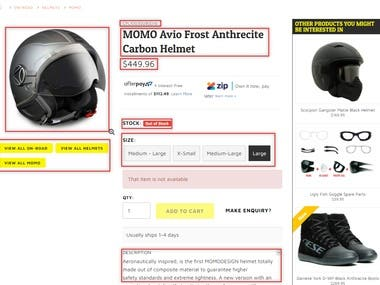 scraping products from ecommerce site