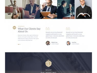 Design and Development of WordPress Website for a Law Firm