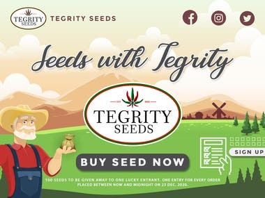 Landing Page for Chili Pepper Seeds Company.