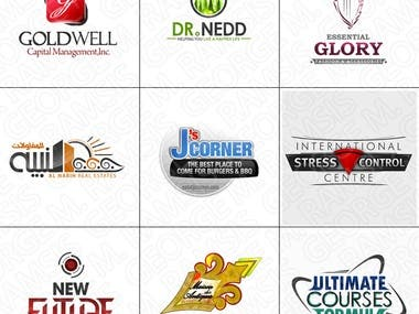 Various samples of logo designs I've created.