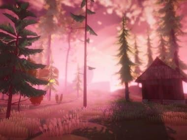 Simple prototype woods scene screenshot.