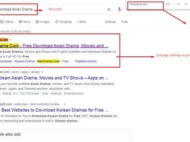 1 st page ranking on google.com by pure white hat SEO