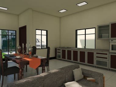An interior design model that I recently completed.