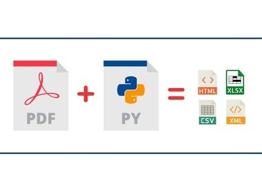 This project is to extract the necessary information from the pdf files using several libraries concerned about PDF parsing.