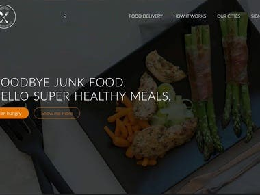 this is a Food  delivery project .   this is the link of my website .  http://www.omnifood.org/