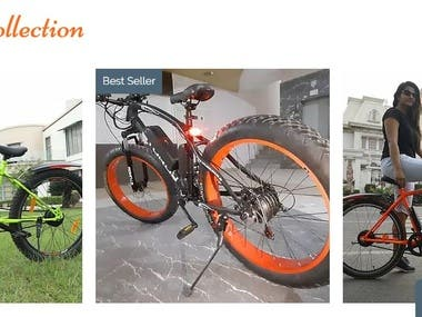A  complete makeover of the wix ecommerce website : Ultrabikes.in Including the shop page, products page and home page etc
