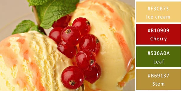 cherry color combination - ice cream