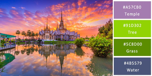 unconventional color combination - thailand