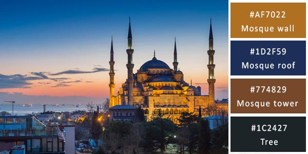 dark color combination - mosque