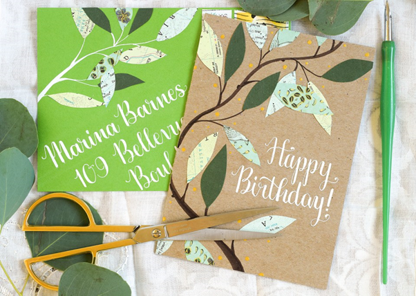 recyclable birthday cards