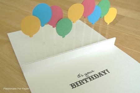 pop-up balloon birthday card