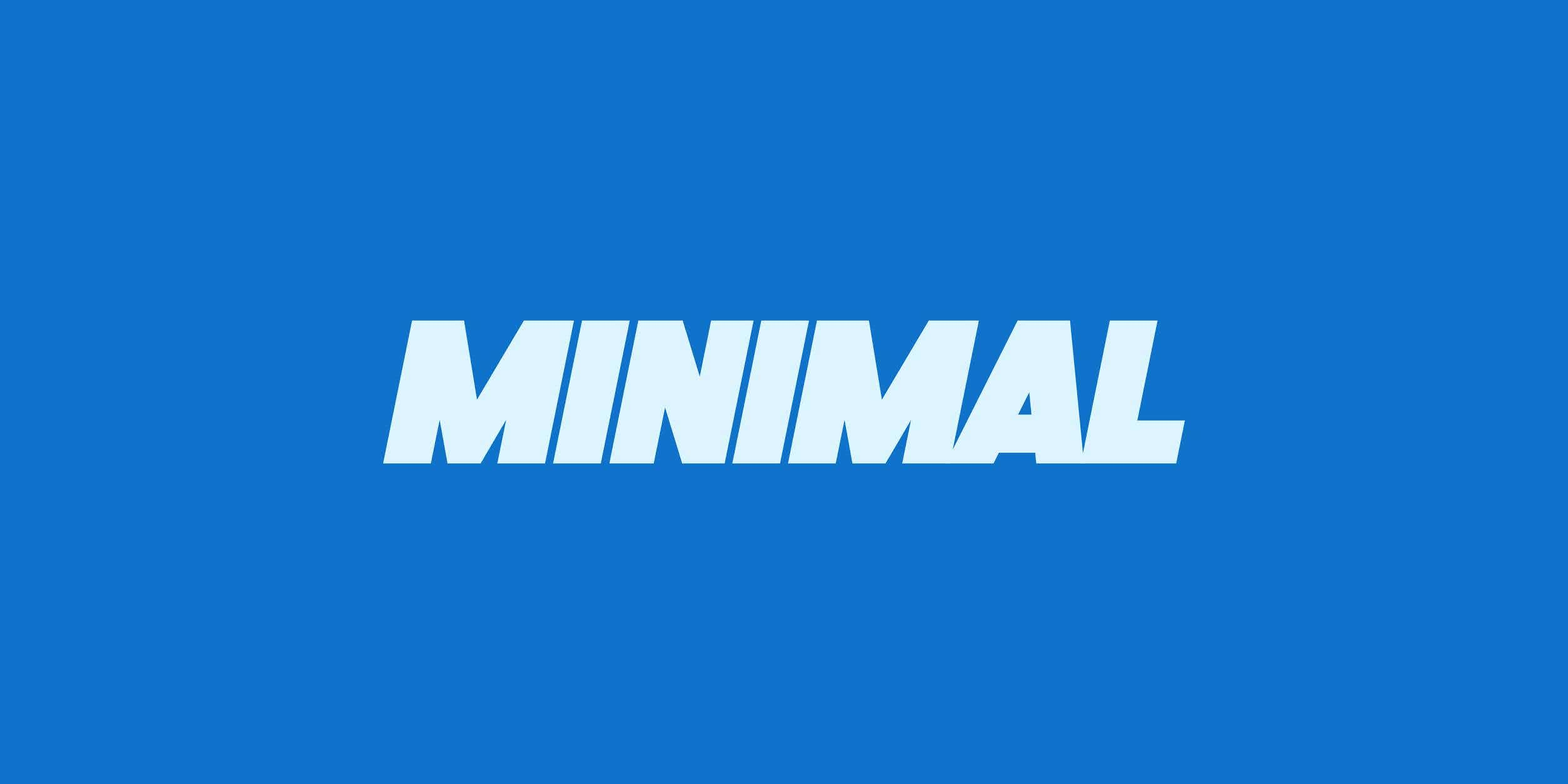 Cover photo for 50 minimalist fonts for a clean design