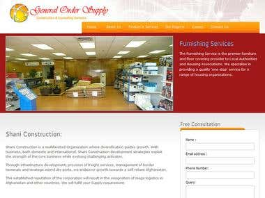 General Order Supply's site developed by me.