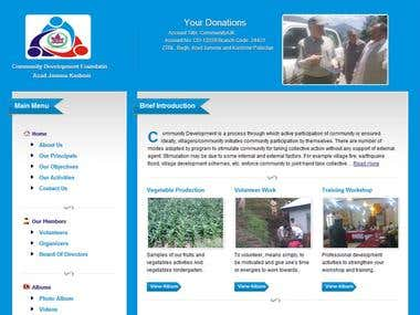 Community Development Foundation's site developed by me.