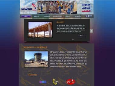 website for create scaffolding and show all service for al saqr group company