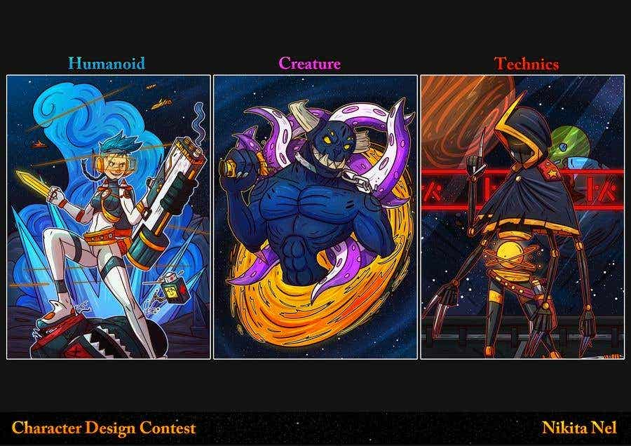 Character design examples - trading card characters