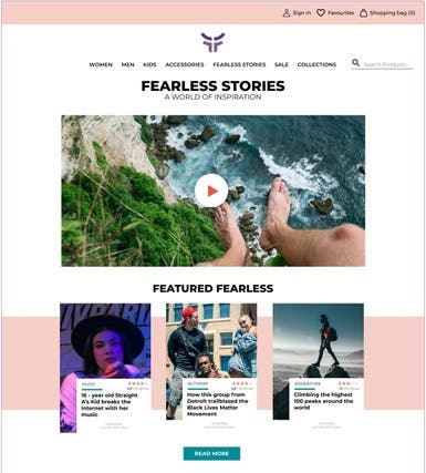 Fearless eCommerce Website