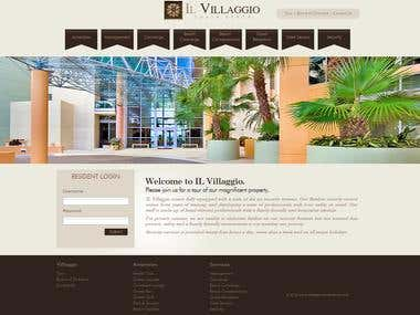 This is beach resort website which has content pages, login, survey form etc..  http://www.ilvillaggiocondominium.com/