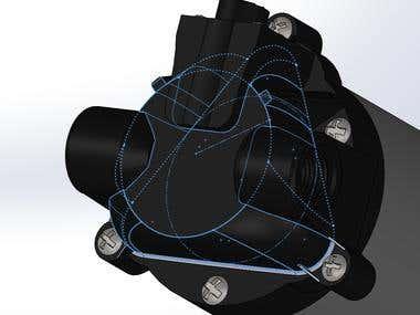 Pressure pump model made in SolidWorks