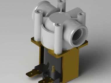 Combination valve 3D model