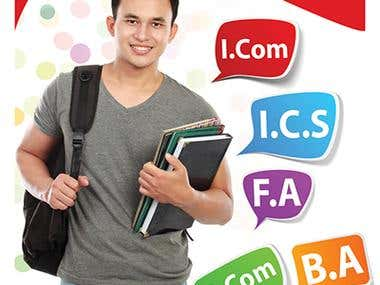 Banner design for Hailey Wishers College