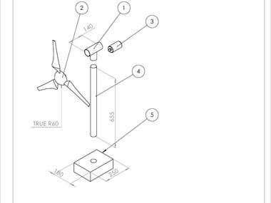 DESIGN OF A WIND TURBINE - COMPLETE DESIGN AND ANALYSIS OF A MINI WIND TURBINE