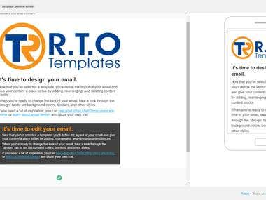 Market Research, Customer Development, Email Template Design, Copywriting for RTO Templates email campaign.