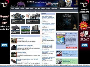 Custom made fully dynamic Gaming News website.