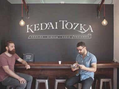 logo for restaurant or food corner/ cafe as they name Kedai Tozka