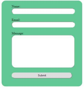 Form with fixed width and background color