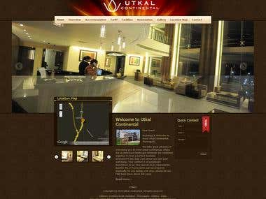 "We have developed the website for Hotel Utkal Continental based on a predefined template. We have also designed a reservation request form with enough checks and validations like ""is not empty"", ""is email"" etc. besides a check in/out date time interface with a date selector calendar and time selector. Also a security captcha(not recaptcha- which is more than spam proof, is turning out to be human proof) is incorporated to prevent spam.  We have enough expertise to select the right design for the business type and place the useful add on for the client."