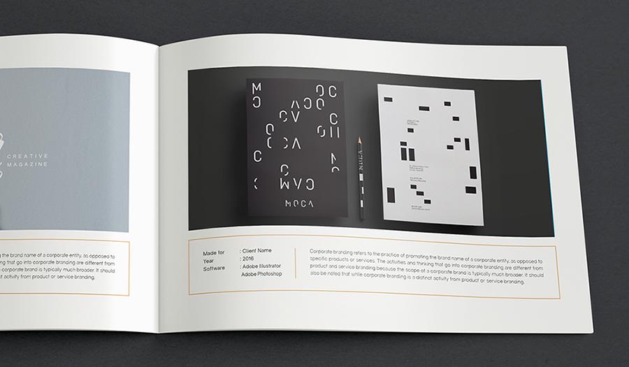 Portfolio Brochure Template Vol 01 | FreelancerShowcase