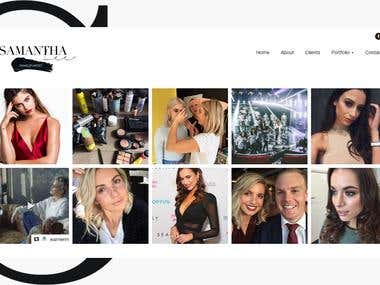 This website fora makeup artist to display her portfolio and services its build in wordpress and Instagram integration done here
