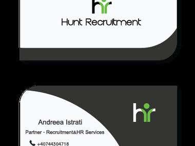 Visual identity developed for a company that offers services of staff recruitment and selection.  The concept was developed together with Hunt team Recruitment.  The logo that I used reflect this company, in a fairly simplistic.  Initials H and R together company name these leading with ease and in the field of human resources.