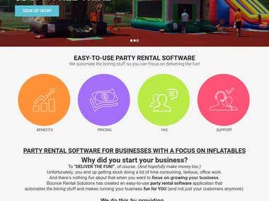 Bounce Rental Solutions - SaaS platform (https://bouncerentalsolutions.com/) This is a SAAS based online application designed for the contractors of party and event rentals to build their own website and showcase their rentable products. With this platform they can manage the business of running a private Boing Bounce. Each contractor using this online software can manage their own Boing Bounce Products, Orders, Customers, Reports and Payments. The ecommerce functionality facilitates registered contractors to manage their own products and product categories.   Environment: Apache, ROR, PostgreSQL, jQuery, Authorize.net