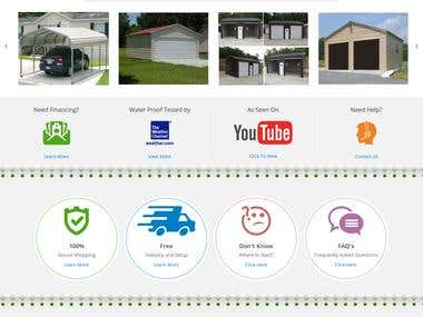 ExpressCarport is the website where the user can build custom Garage, Carport, Storage building, RV Cover, etc. The major part of the website is its Builder/Configuration. The tool where the user can make/choose their products according to their needs. Basically, the tool has eight steps and on each step, user can configure product at any point in time user can go back to any step either in previous of forward.  PayPal is being used as the payment gateway. We have used Rails 4.1.4 and Ruby 2.1.3.