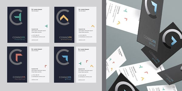 Portrait design for modern business card