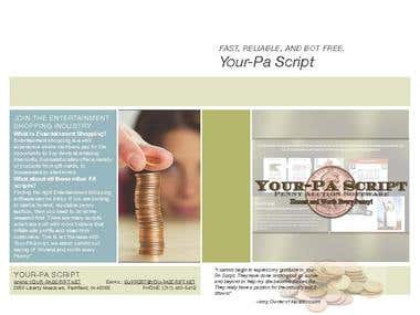 Your-PA Brochure with information about customers and features.