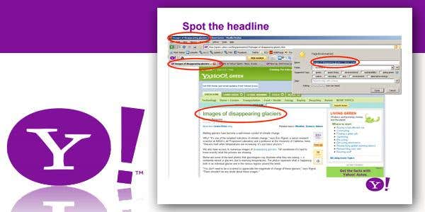 Yahoo Style Guide
