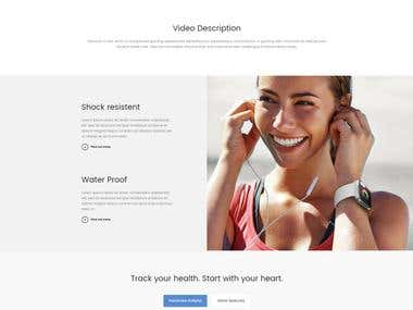 A clean and minimalist style web design. This design is UX optimised in order to give visitors an enjoyable browsing experience.  Out client elected not to be disclosed.