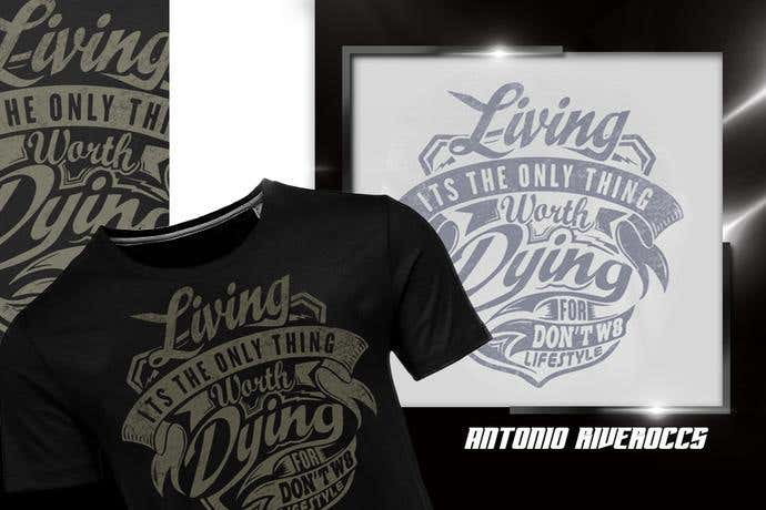 Start living motivational t-shirt design idea